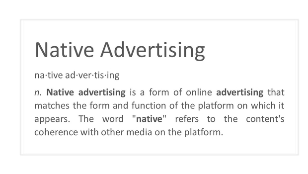 Is Native Advertising the new Long-tail?