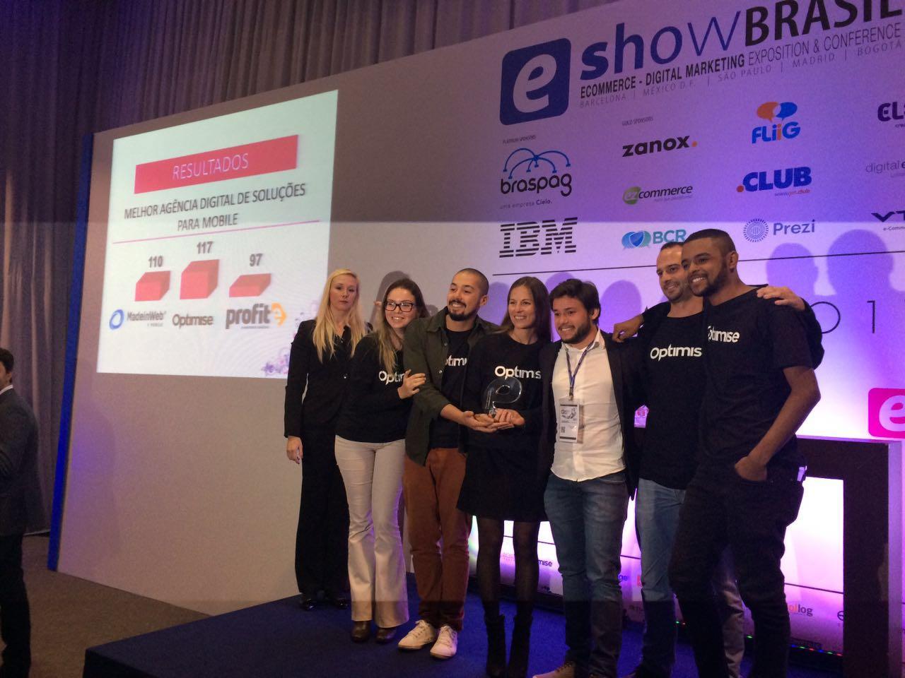 Best Digital Agency Mobile – Optimise wins eAwards Brasil